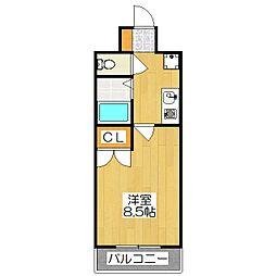 富士ラビット七条館[311号室]の間取り