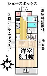 愛知県名古屋市千種区田代本通4丁目の賃貸マンションの間取り