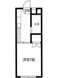 東京都大田区鵜の木2丁目の賃貸アパートの間取り