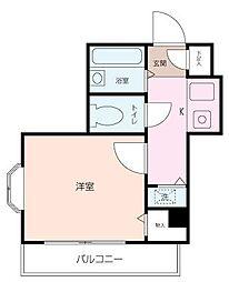 ヴァンハウス横須賀[101号室]の間取り