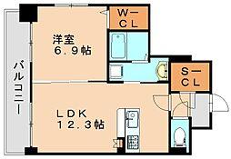 リヴェール箱崎[2階]の間取り