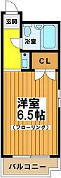 東京都杉並区永福3の賃貸マンションの間取り
