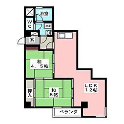 オリンピア・マンション高宮[4階]の間取り