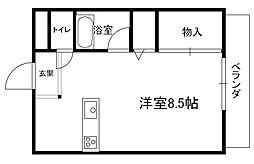 プチメゾンFuji _[205号室]の間取り