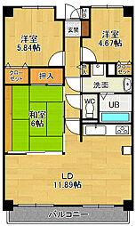 リフレ21[2階]の間取り