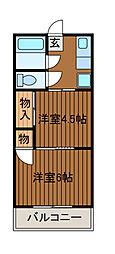 ヤナギレジデンス[3A号室]の間取り