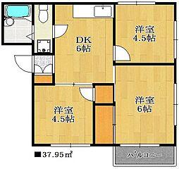 コーポヤマネ2[2階]の間取り