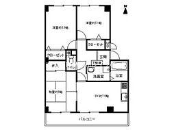 香川県高松市郷東町の賃貸マンションの間取り