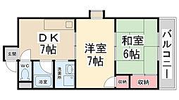 ダイアマンション[301号室]の間取り