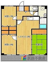 カサグランデ筑紫[5階]の間取り