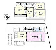 建物参考プラン:間取り/5LDK、延床面積/117.17?、建物参考価格/1500万円(税込)