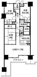 兵庫県西宮市中前田町の賃貸アパートの間取り