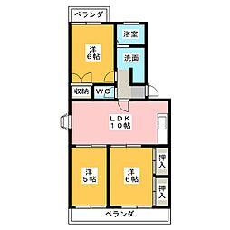 クレール松岡[3階]の間取り