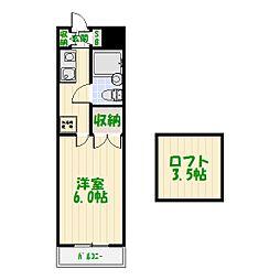 パレノーブル新宿第一[0108号室]の間取り