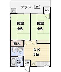 ハイネス倉田[103号室]の間取り