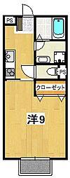 キャノンフォート成沢[203号室]の間取り