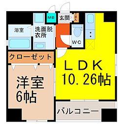 愛知県名古屋市東区芳野3丁目の賃貸マンションの間取り