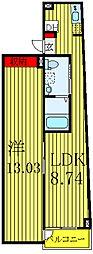 都営三田線 西巣鴨駅 徒歩8分の賃貸マンション 地下1階1LDKの間取り
