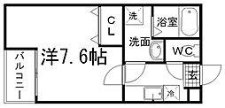 クレフラスト美野島[103号室]の間取り