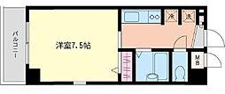 神奈川県横浜市港北区鳥山町の賃貸マンションの間取り