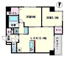 S.D-room(エスディルーム) 2階2LDKの間取り
