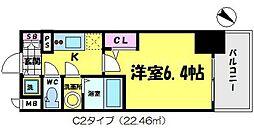 エスリード京橋[2階]の間取り