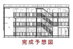 兵庫県西宮市上ケ原五番町の賃貸アパートの外観