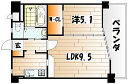 サンリッツ京町[6階]の間取り