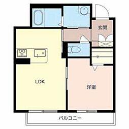 兵庫県加西市北条町東高室の賃貸マンションの間取り