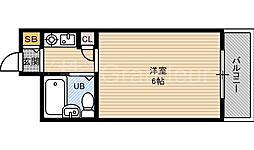 アベニール都島[8階]の間取り