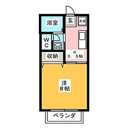 メゾン・ドゥ・エスポワール[1階]の間取り