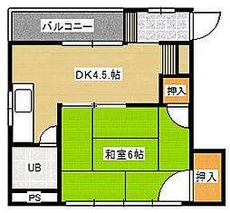 田代ビル[4階]の間取り