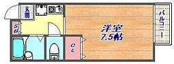 コスモメゾン岡本[201号室]の間取り