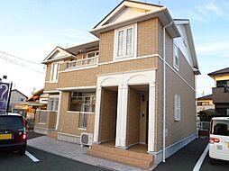 静岡県磐田市白羽の賃貸アパートの外観