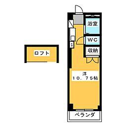 豊田ハイツ A[1階]の間取り