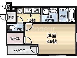 フジパレス鶴見5番館[1階]の間取り