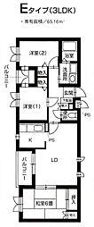 ラ・クール藤ヶ丘[307号室]の間取り