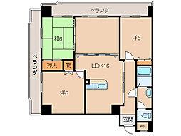インペリアル和歌浦301号室[3階]の間取り