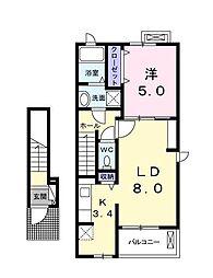 シャンテSEI[2階]の間取り