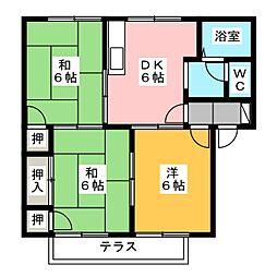 サンクレスト昭和B棟[2階]の間取り