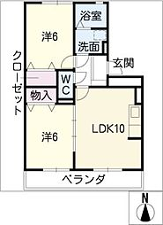 シャトル稲生[2階]の間取り