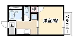 愛知県名古屋市瑞穂区亀城町2丁目の賃貸アパートの間取り