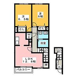 レジデンスブロッコリーD[2階]の間取り