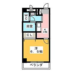 愛知県名古屋市昭和区雪見町2丁目の賃貸アパートの間取り