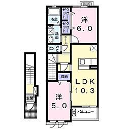 ウエストヒル神戸[2階]の間取り