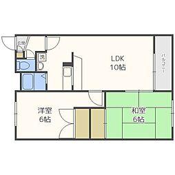 プロスペール新札幌[3階]の間取り