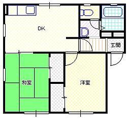 新潟県新潟市北区白新町2丁目の賃貸アパートの間取り