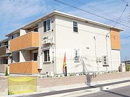 愛知県海部郡蟹江町桜2丁目の賃貸アパートの外観