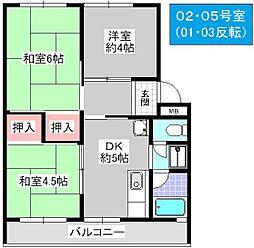 松本第1マンション[203号室]の間取り