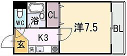 ロイヤルハイム上小阪[3階]の間取り